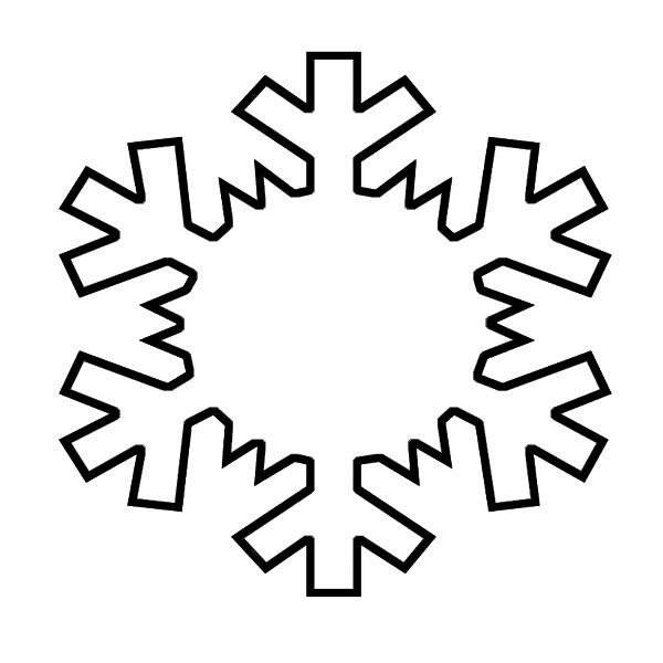 Easy snowflake template